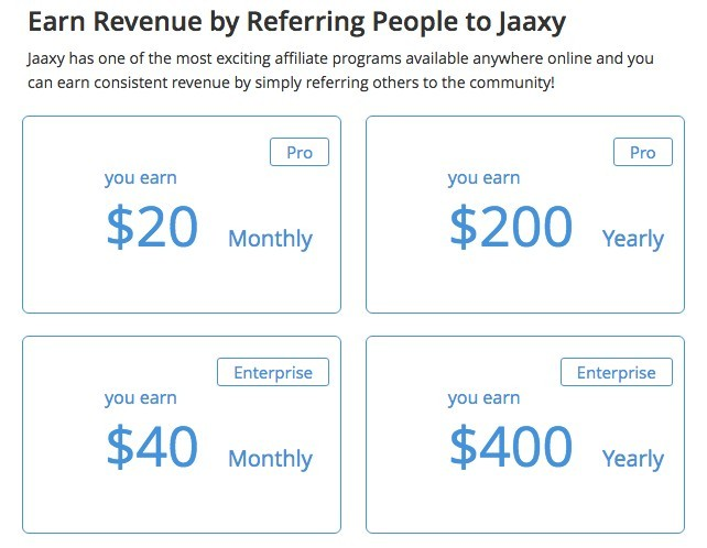 jaaxy referral commission incite wealth